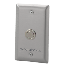 Wall Plate Sensor with Low Profile Override