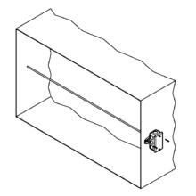 50/50 Vertical Stratification - Rigid Averaging Sensor Horizontal Installation