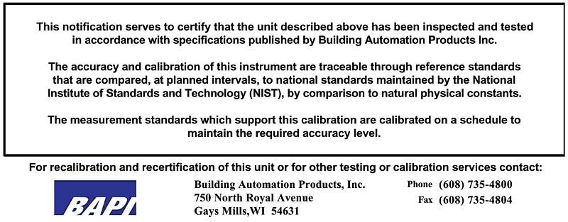 Calibration Certificate 5