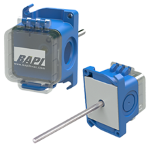 Duct Temperature Sensor with a BAPI-Box Crossover