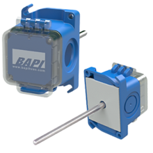 Duct Temperature Transmitter with a BAPI-Box Crossover