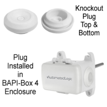 Pierceable Knockout Plug