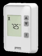 Quantum temperature sensor with pushbuttons