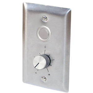 WallPlate with Rotary Setpoint and Low Profile Override