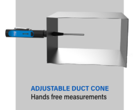 adjustable duct cone for hands free measurement