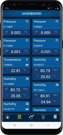 Blu-Test app dashboard screen