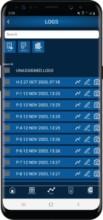 Blu-Test app logs screen