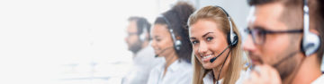 customer service agents on the phone