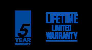 5 year warranty and lifetime limited warranty