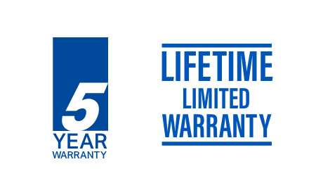 5 year warranty and lifetime limited warranty